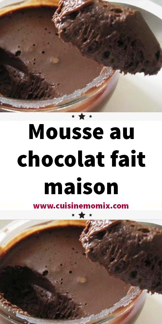 Mousse au chocolat fait maison - Recettes Et Delices