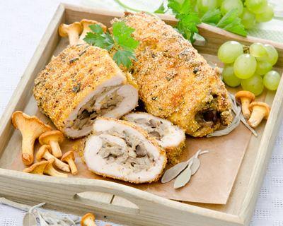 Escalopes de poulet farcies aux champignons - Recettes Et Delices