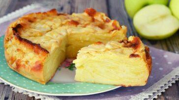 Gâteau invisible aux pommes de Cyril Lignac